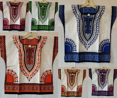 Kids Dashiki shirt African Boys Girls Mexican Poncho Hippie Blouse Top One Size - Hippie Dashiki