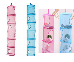 Hanging Mesh Space Saver Bags Organizer 6 Compartments
