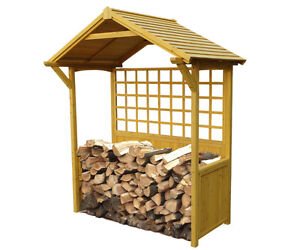 FIREWOOD STORAGE SHED, GARDEN, YARD, BACKYARD
