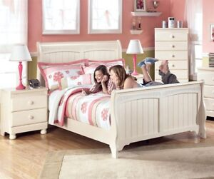 Ashly furniture twin bed and dresser