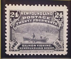 Newfoundland Salmon Fishing Stamp Poster, Signed and Numbered
