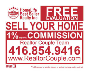 Sell Your House-Condo for ONLY 1% Listing Commission!
