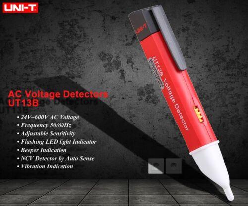 UNI-T UT13B AC Voltage Detector Test Pen Auto Sense 50V~1000V Buzzer Flash vibra