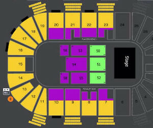 AMAZING JIM GAFFIGAN FRONT FLOOR AND LOWER BOWL !!!