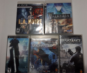 5 Video games - 2 PSB, 3 PS3