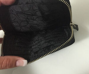 Fossil Maddox Black Leather Coin Purse Strathcona County Edmonton Area image 3