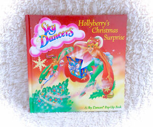 1996 Sky Dancers Pop Up 3D Book Hard Cover Hollyberry's Xmas