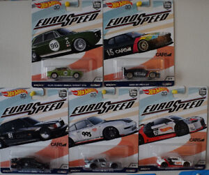Hot Wheels Car Culture Euro Speed Complete Set 1/64 scale