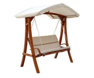 WOODEN SWING SEATER WITH CANOPY, GARDEN, YARD, PATIO, TERRACE