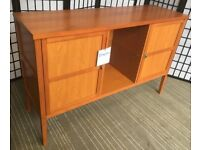 Vivre cherry sideboard ex-dsplay RRP £599 glass shelves