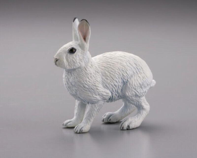 Kaiyodo Capsule Q Museum JAPANESE MOUNTAIN HARE Snow White Rabbit Animal Figure