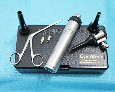 New Led Veterinary Otoscope Kit 1 Alligator Forcep 1 Bulb