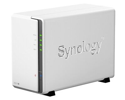SYNOLOGY DS218j 2-Bay-All-in-One NAS LAN RJ45 Laufwerksgehäuse * NEU *