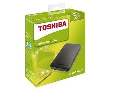 2TB Toshiba Canvio Basics 6,3cm (2,5 ) USB 3 0 NEU HDTB420EK3AA