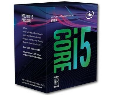 Intel i5 8400 BOX CPU, Prozessor, 6-Core, mit Lüfter, Coffee Lake LGA 1151v2
