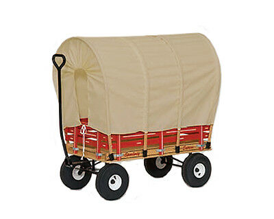 """AMISH CONESTOGA COVERED WAGON 40"""" w/ 6½ Wide Off Road Tires *4 Colors* USA"""