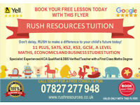 11 PLUS, MATHS, SATS, ACA, ECONOMICS ONLINE TUTOR TUITION (KS1, KS2, KS3, GCSE) 1ST LESSON FREE!