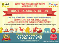 11 PLUS, ELEVEN PLUS, MATHS, SATS, ECONOMICS ONLINE TUTOR TUITION (KS2, KS3, GCSE) 1ST LESSON FREE