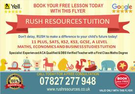 11 PLUS, ELEVEN PLUS, MATHS, SATS, ECONOMICS ONLINE TUTOR TUITION (KS2, KS3, GCSE) 1ST LESSON FREE