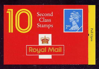 GB 1993 10 x 2nd CLASS STAMPS BARCODE BOOKLET HC12