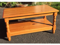 Solid Pine coffee table USED