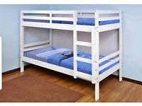 🔵💖AESTHETIC DESIGN🔵🔴KIDS BUNK BED-Single Wooden Bunk Bed Frame in White and Oak Color Options