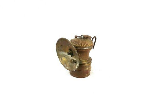 Vintage Universal Lamp Company Auto - Lite Brass Miners Carbide Cap Light