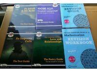 GCSE Maths snd English study books