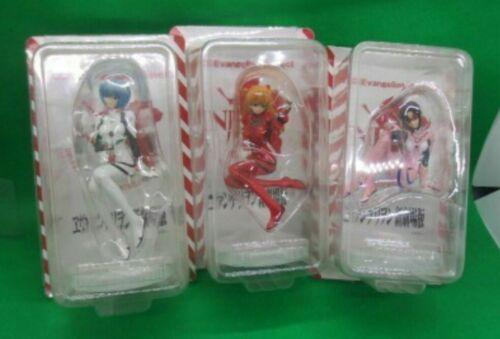 Neon Genesis Evangelion Japan Anime Mini Coffee Figure Set of 3 Rei Mari Asuka
