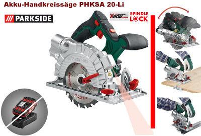 PARKSIDE Akku-Handkreissäge PHKSA 20-Li (ohne Akku / ohne Ladegerät) 20 Volt TOP