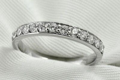 Diamond Wedding Band Ring 0.36 Ct Round Cut 14K White Gold Pave Anniversary Pave Diamond Anniversary Band