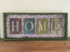 Lovely Large Colourful HOME Sign. Perfect gift as still with tag. ❤️MOTHERS DAY❤️