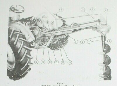 Ford Dearborn 903 Post Hole Digger Owners Operators Manual Posthole Auger