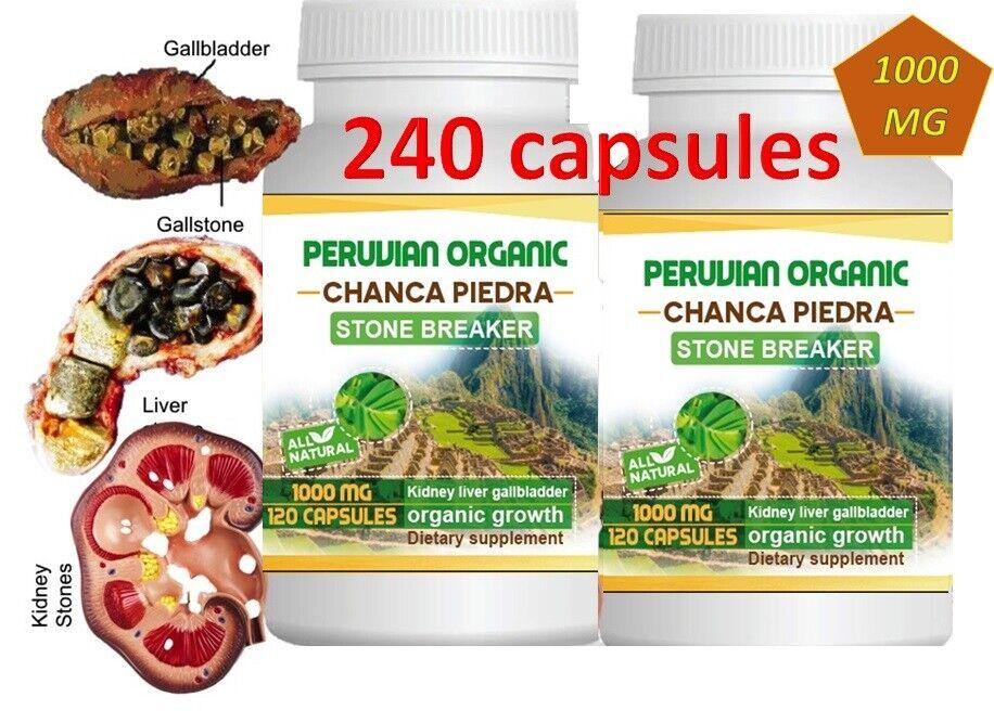 Chanca Piedra 2 Btl x 120 Caps (Peruvian material) Natural Kidney Stone Breaker