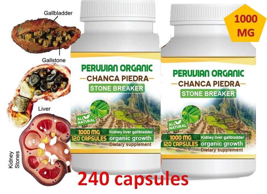 Chanca Piedra 2 Btl x 120 Caps (Peruvian material) Natural Kidney Stone Breaker 1