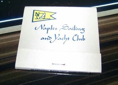 Vintage Matchbook Naples Sailing and Yacht Club Florida River Point Drive