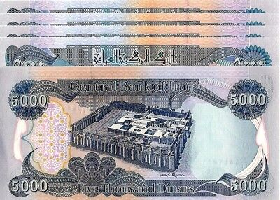 25,000 IRAQI DINAR (5)5K BANKNOTES OFFICIAL CURRENCY - AUTHENTIC - FAST DELIVERY