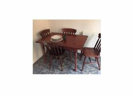 Vintage Marks & Spencer Set of 4 chairs and matching table
