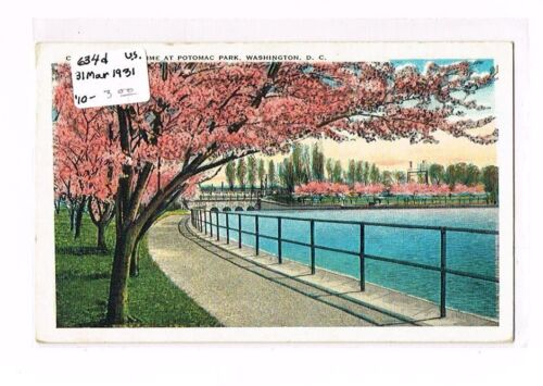 Scott 634d 1931 WASHINGTON DC Cherry Blossom Time At Potomac Park Colorchrome