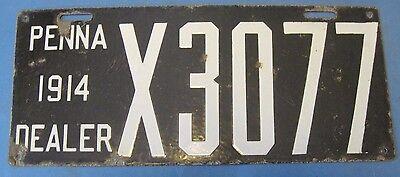 1913 Pennsylvania Dealer License Plate