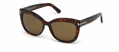 Authentic Tom Ford FT0524 Alistair 54H Red Havana Sunglasses