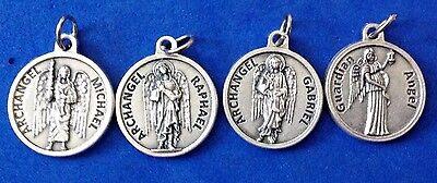 Saint Michael Archangel - Lot 4 Archangel St Medals Michael Gabriel Raphael Guardian Angel Saint Italy