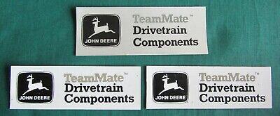 Vintage 80s JOHN DEERE Waterloo Tractor DRIVETRAIN COMPONENTS DECAL 1 & MAGNET 2