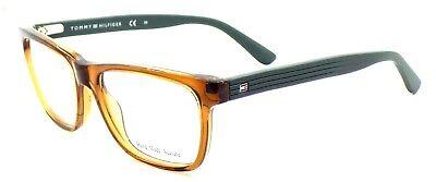 TOMMY HILFIGER TH 1327 05R Men's Eyeglasses Frames 50-16-140 Brown Green + CASE
