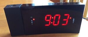 Digital Dual Alarm Projection Clock Radio (2 available)