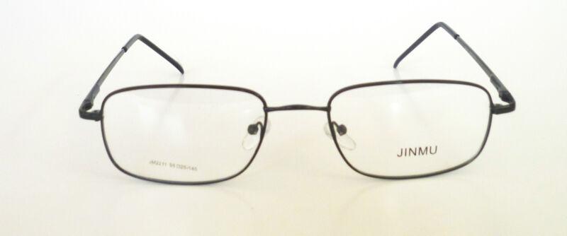 55-20-140 Rectangle Eye Glasses Metal Prescription Frame Spring Hinge 4 Colors