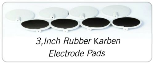 Rubber Electrode Round Pads 3 Inch Light Grey Use For Micro Current Tens & EMS
