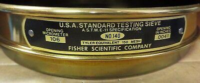 Fisher Mesh Brass Sieve No. 140