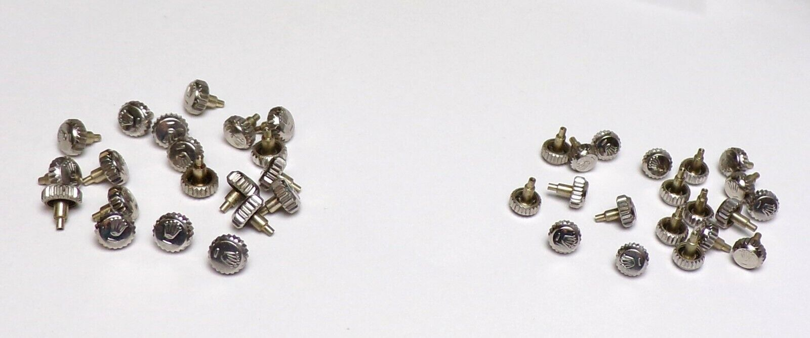 Lot Of Crowns 20 - 5.3mm 20 - 6mm Stainless Steel Genuine Rolex for World  - $1,200.00