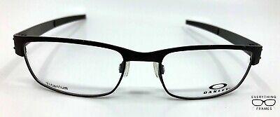 Oakley  OX22-198 Metal Plate Black Eyeglasses New Authentic 53